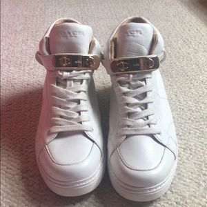 Coach high top sneaker women's white size 8